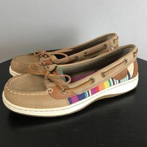 SPERRY Striped Serape Boat Shoes